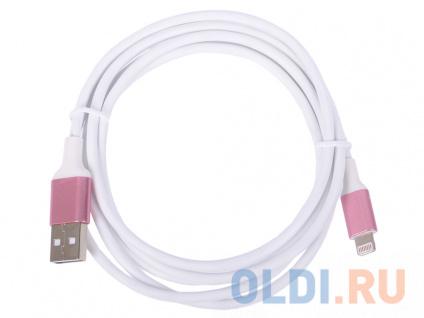 Фото «Greenconnect Кабель 1.5m Apple USB 2.0 AM/Lightning 8pin MFI для Iphone 5/6/7/8/X - поддержка всех I GCR-50778 розовый» в Москве