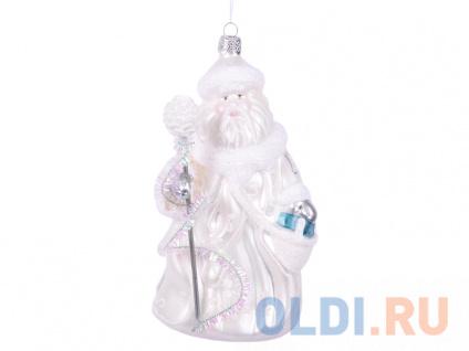 Фото «Елочные украшения Winter Wings Дед Мороз в Белом 16,5 см 1 шт белый стекло N07846» в Москве