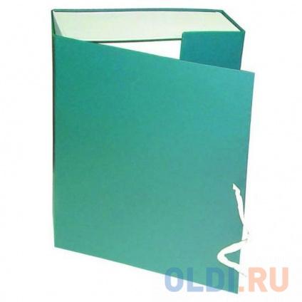 Фото «Короб архивный на завязках, бумвинил, 320х242х80 мм, зеленый» в Нижнем Новгороде