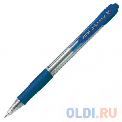 Фото «Шариковая ручка автоматическая Pilot SUPERGRIP синий 1 мм BPGP-10R-M-L» в Москве