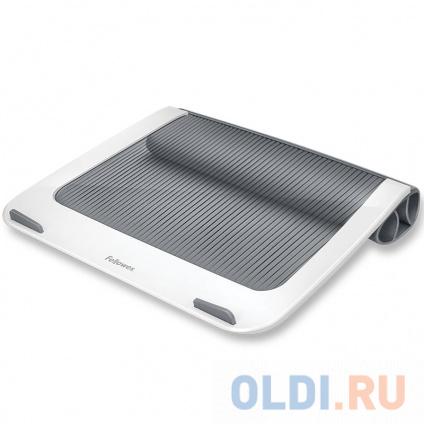 "Фото «Fellowes I-Spire Series Подставка для ноутбука, пластик, до 17"", до 6 кг, белая/серая, шт» в Нижнем Новгороде"