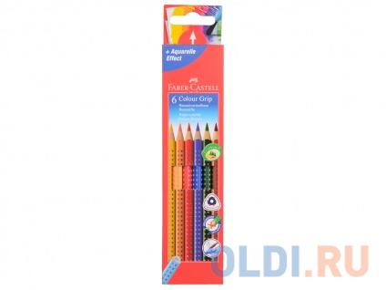 Фото «Набор цветных карандашей Faber-Castell Grip 2001 6 шт акварельные 112406» в Нижнем Новгороде