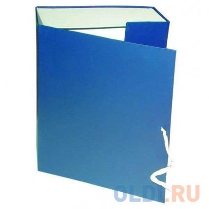Фото «Короб архивный на завязках, бумвинил, 320х242х40 мм, синий КАрхБ/В-40С» в Новосибирске