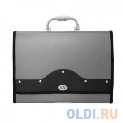 Фото «Папка-портфель METALLIC с металлическим замком, 13 отделений, А4, серебряная» в Москве