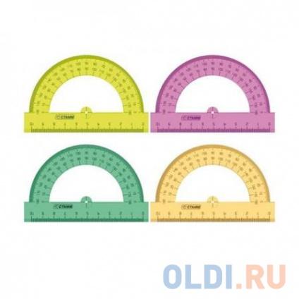 Фото «Транспортир цветной, флюоресц., прозрачный, 4 цв., 10 см» в Нижнем Новгороде