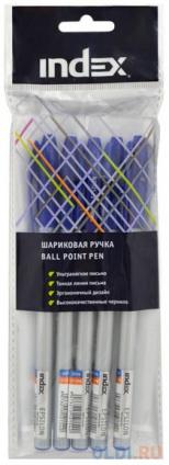 Фото «Набор шариковых ручек Index IBP3110S/5 5 шт синий 1 мм» в Москве