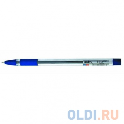 Фото «Шариковая ручка Index BETA GRIP синий 0.7 мм IBP348/BU» в Москве