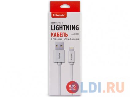 Фото «Кабель Belsis Lightning - USB А, белый, 0.95 м, BS3015» в Ростове-на-Дону