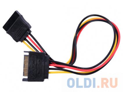 Фото «Cablexpert Удлинитель кабеля питания SATA 15pin(M)/15pin(F), 30см (CC-SATAMF-01)» в Новосибирске