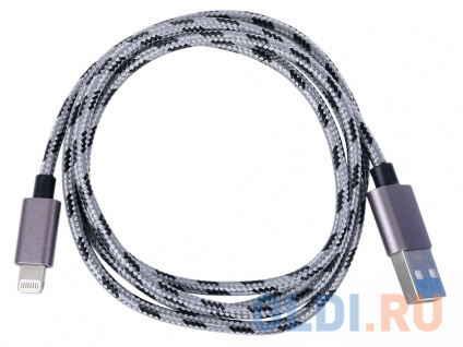 Фото «Кабель Lightning/USB, braided, metallic shell, cable length 1m, Dark gray CANYON CNE-CFI3DG» в Санкт-Петербурге