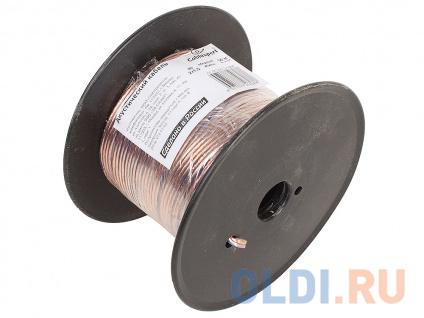 Фото «Акустический кабель Cablexpert CC-TC2x1,5-50M, прозрачный, 50 м, на катушке» в Санкт-Петербурге