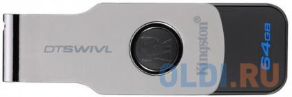 Фото «USB флешка Kingston DTSWIVL 64Gb Black (DTSWIVL/64GB)» в Ростове-на-Дону