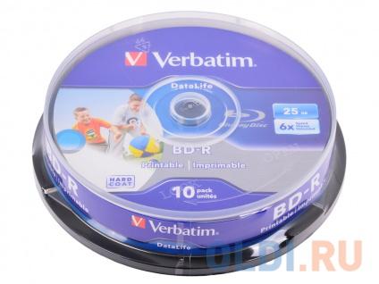 Фото «Диски Blu-Ray VERBATIM BD-R 25 GB 6x CB/10 Full Ink Print NO ID» в Ростове-на-Дону