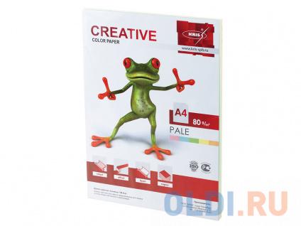 Фото «Бумага CREATIVE color (Креатив), А4, 80 г/м2, 100 л. (5 цв.х20 л.), цветная пастель, БПpr-100r» в Новосибирске