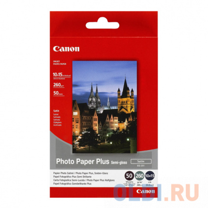 "Фото бумага Canon SG-201 4""x6""  260 г\м2  50 листов"