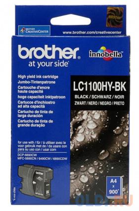 Фото «Картридж струйный Brother LC1100HYBK черный (black) 900 стр.» в Москве