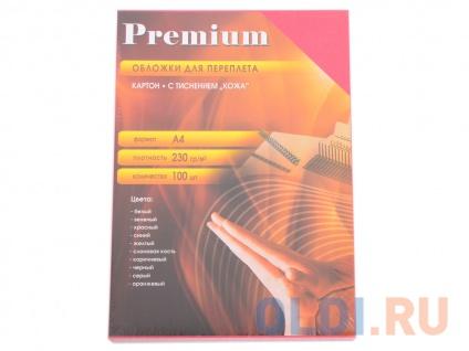 """Фото «Обложки А4 """"кожа"""" красные 100 шт. Office Kit (СRA400230)» в Санкт-Петербурге"""