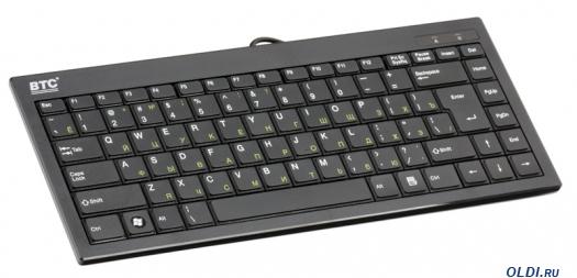 Фото «Клавиатура BTC 6411-BL USB Black» в Москве