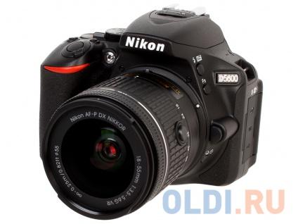 """Фото «Фотоаппарат Nikon D5600 Black KIT 18-55 P VR 24.1Mp, 3.2"""" WiFi, GPS» в Москве"""