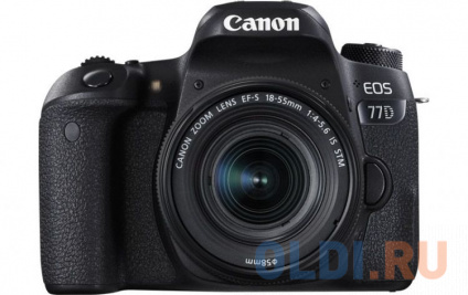 Зеркальный фотоаппарат Canon EOS 77D KIT 18-55 IS STM Black