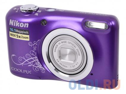 Фото «Фотоаппарат Nikon Coolpix A10 (VNA983E1) Purple Lineart» в Москве