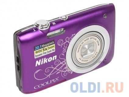 "Фото «Фотоаппарат Nikon Coolpix A100 Purple Lineart 20.1Mp, 5x zoom, SD, USB, 2.6""» в Нижнем Новгороде"