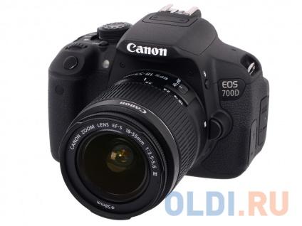 Зеркальный фотоаппарат Canon EOS 700D KIT 18-55 DC III Black