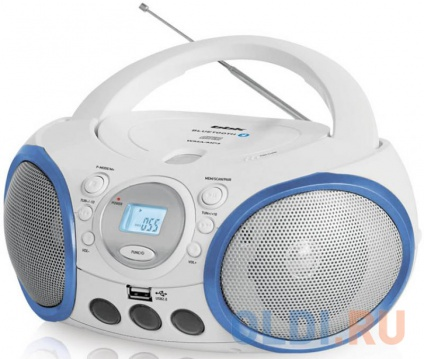 Магнитола BBK BX150BT белый/голубой