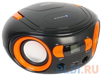 Фото «Аудиомагнитола BBK BS15BT черный/оранжевый, 4 Вт, FM, Bluetooth, Цифровой тюнер» в Екатеринбурге