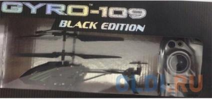 """Фото «Вертолёт на радиоуправлении 1toy """"GYRO-109"""" - Black Edition черный от 8 лет металл Т58768» в Санкт-Петербурге"""