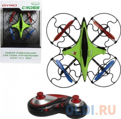 Фото «Квадрокоптер на радиоуправлении Toy State GYRO-Cross зелёный от 8 лет пластик 2,4GHz 4 канала 16х16с» в Санкт-Петербурге