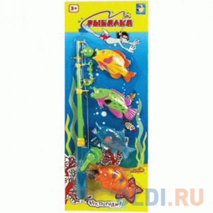 "Фото «1toy ""Ну Погоди"" Игра рыбалка на блистере, 4 рыбки, 52х19 см» в Санкт-Петербурге"