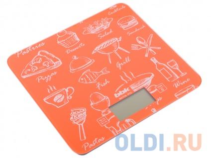 Фото «Электронные кухонные весы BBK KS108G оранжевый» в Новосибирске
