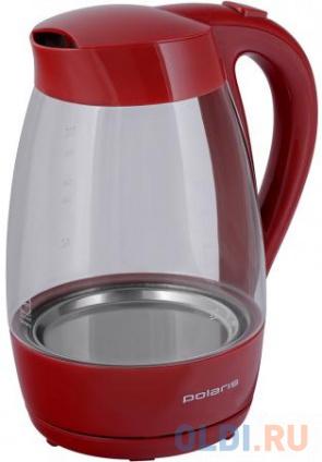 Фото «Чайник электрический Polaris PWK 1706CG 1.7л. 2000 Вт красный» в Москве