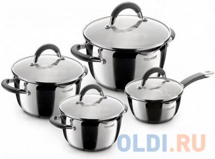 Фото «Набор посуды Rondell Flamme RDS-040 (8 пр:Кастр18/20/24см и ковш с/кр)» в Санкт-Петербурге