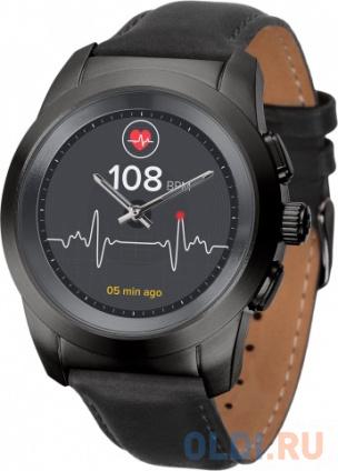 Фото «Гибридные смарт часы MyKronoz ZeTime Premium Regular цвет матовый черный, кожаный ремешок цвет черный» в Екатеринбурге