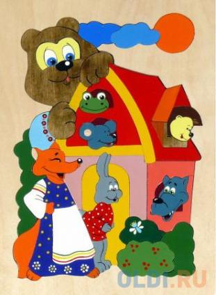 Фото «Развивающая игрушка Крона Мозаика-вкладыш дерев. Теремок 143-019» в Нижнем Новгороде