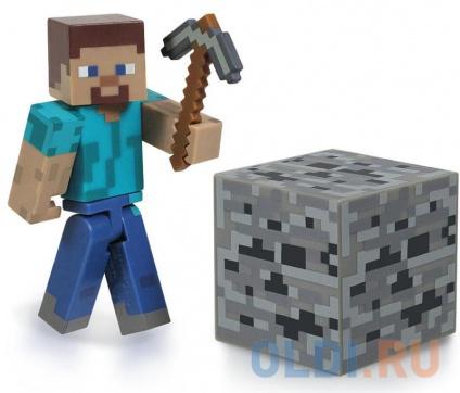 """Фото «Конструктор Minecraft """"Стив"""",3 предм.(подвиж.Стив,куб земли,кирка)» в Ростове-на-Дону"""