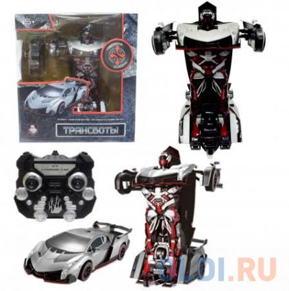 Фото «1toy Робот на р/у 2,4GHz, трансформирующийся в спортивный автомобиль, серебристый» в Ростове-на-Дону