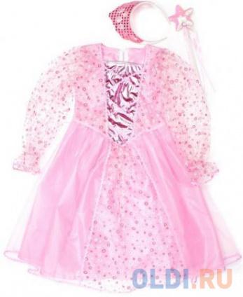 Фото «Карнавальный костюм Новогодняя сказка Принцесса 75 см, роз., ободок, палочка» в Екатеринбурге