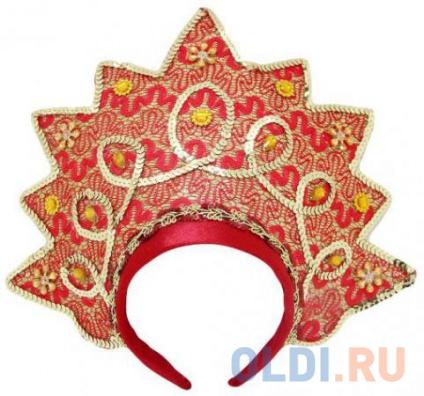 Фото «Кокошник Новогодняя сказка Корона, красный 30.5 см от 3 лет 972862» в Ростове-на-Дону