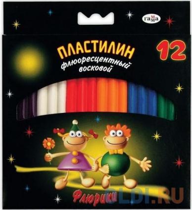 Фото «Пластилин ФЛЮРИКИ со стеком, флюор., 12 цв., карт. уп., 153г., с европодвесом» в Екатеринбурге