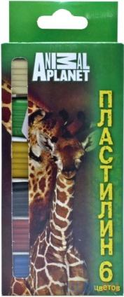 Фото «Пластилин ACTION! ANIMAL PLANET, 6 цв, 120 гр, карт.уп. с е/подвесом, со стеком» в Екатеринбурге