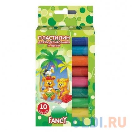 Фото «Пластилин FANCY,10 цв, 100 гр, карт. уп. с европодвесом» в Екатеринбурге