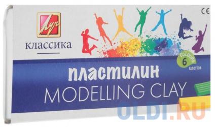 Фото «Набор пластилина Луч Классика 6 цветов 12С878-08 со стеком» в Екатеринбурге