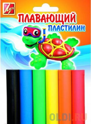 Фото «Пластилин плавающий, 6 цв., 84гр с европодвесом, в блистере» в Екатеринбурге