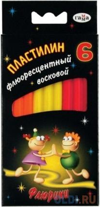 Фото «Пластилин ФЛЮРИКИ со стеком, флюор., 6 цв., карт. уп., 76 г., с европодвесом» в Екатеринбурге