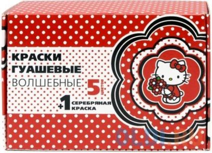 Фото «Гуашь волшебная HELLO KITTY , 5 цв. + серебро, 20 мл» в Екатеринбурге