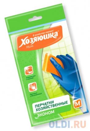 Фото «Перчатки латексные эконом Хозяюшка Мила M 17019» в Москве