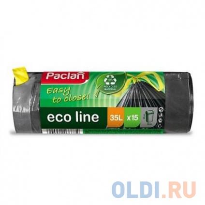 Фото «PACLAN Мешки для мусора с тесьмой ECO LINE 35л 15шт» в Москве